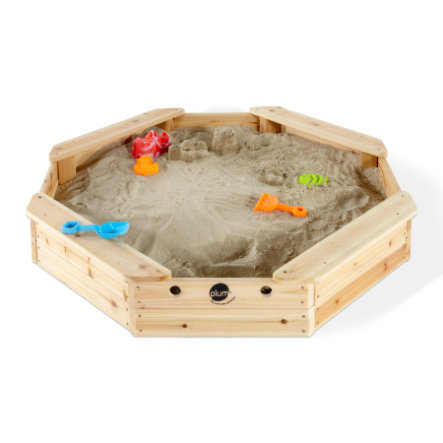 blomme Sandkasse til børn - Træskatteø med beskyttelsesafdækning