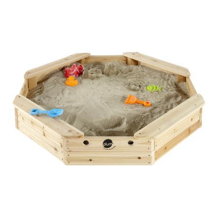 plum® Sandkasten für Kinder - Schatzinsel aus Holz mit Schutzabdeckung