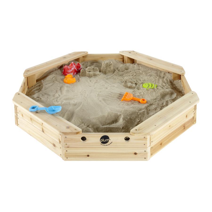 plum  ® Sand pudełko dla dzieci - wyspa skarbów wykonana z drewna z pokrywą ochronną