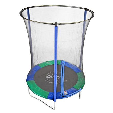 blomme trampolin, Junior, med sikkerhedsnet, 140 cm