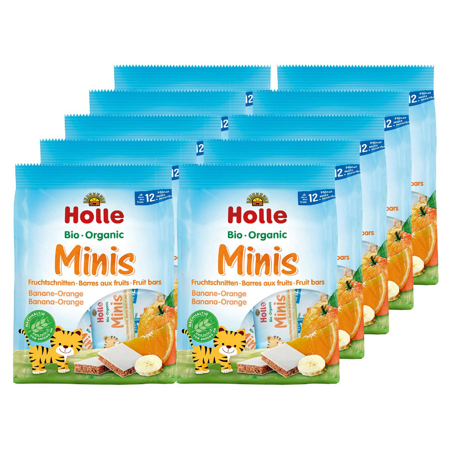 Holle Bio Minis Banane-Orange 10 x 100 g