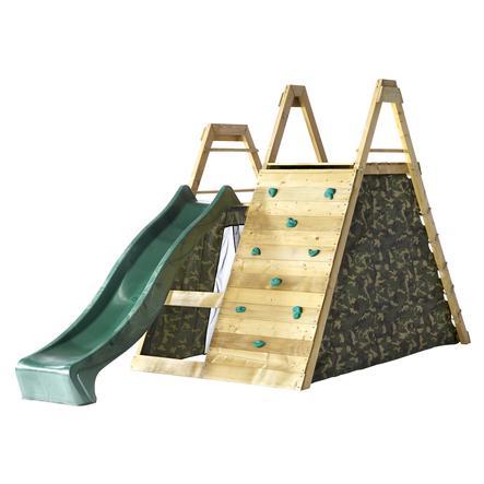 plum® Aire de jeu enfant escalade pyramide bois