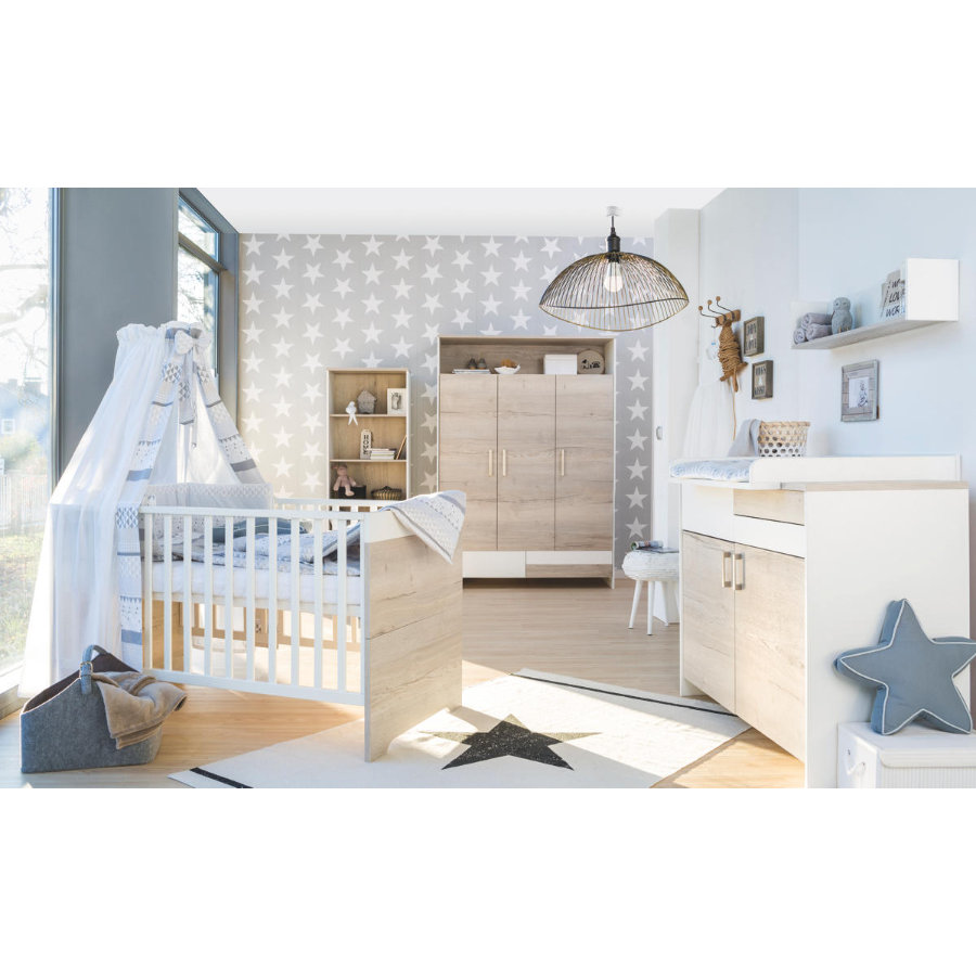 schardt chambre d 39 enfant clou ch ne armoire 3 portes. Black Bedroom Furniture Sets. Home Design Ideas