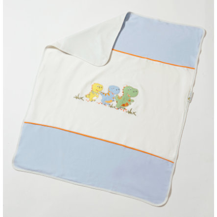 easy baby Jersey Kinderdecke 78 x 90 cm Dino blue