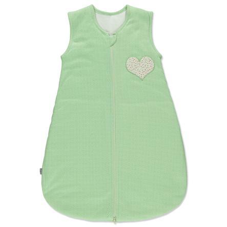 LITTLE Retro Schlafsack grün Herz
