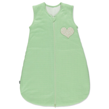 LITTLE Śpiworek Retro Serce, zielony