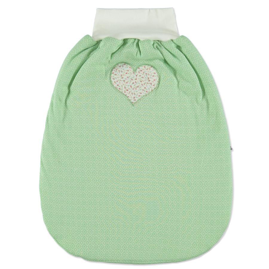 LITTLE Demi gigoteuse rétro coeur vert 50 cm