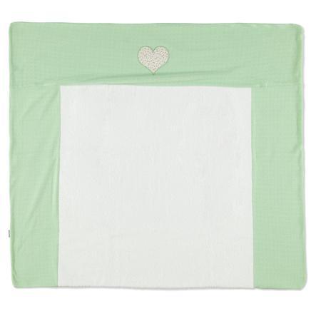 LITTLE  Retro Tapis à langer housse coeur vert 75 x 85 cm