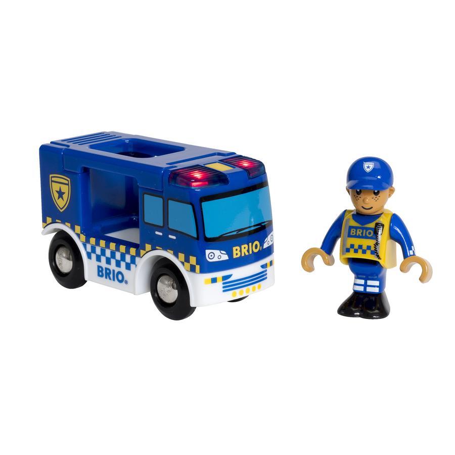 BRIO® WORLD Wóz policyjny z dźwiękiem i światłem 33825