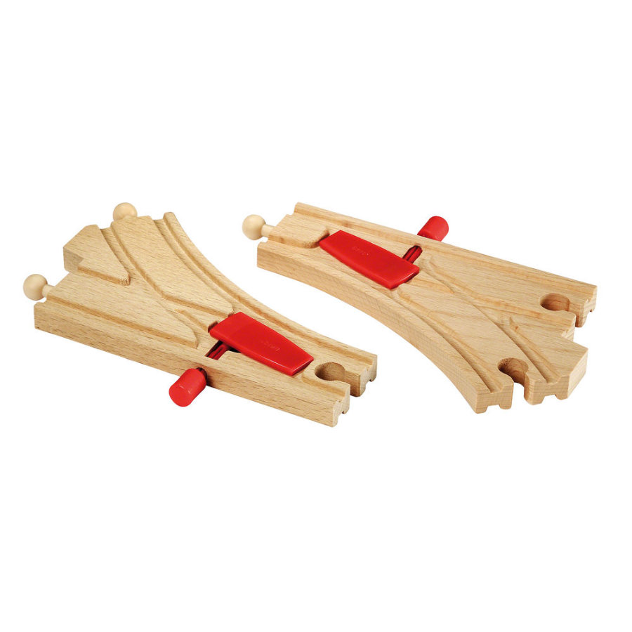 BRIO® WORLD Mechanisches Weichenpaar 33344