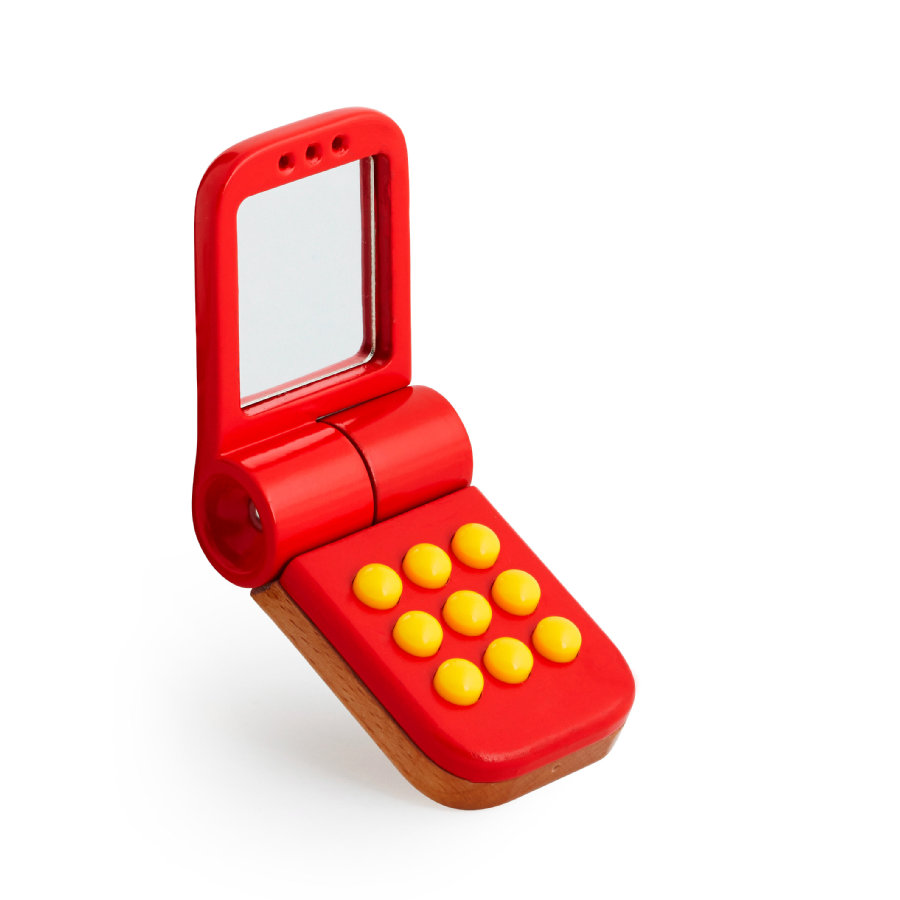 BRIO Téléphone portable en bois, rouge