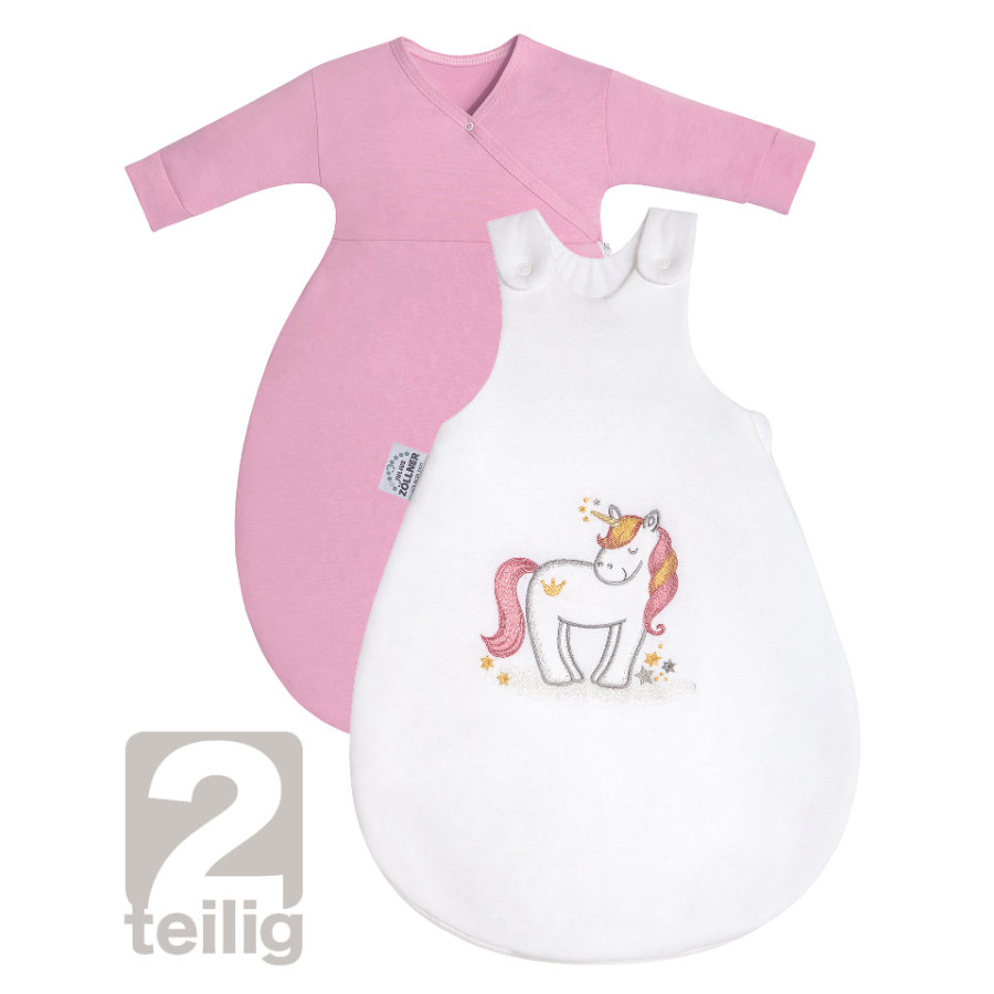 JULIUS ZÖLLNER Schlafsack Cosy Jersey Magic Unicorn mit Applikationen