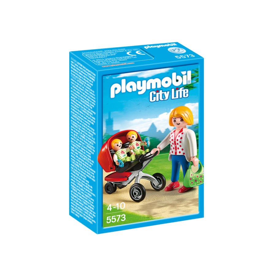 PLAYMOBIL® City Life Tweeling kinderwagen 5573