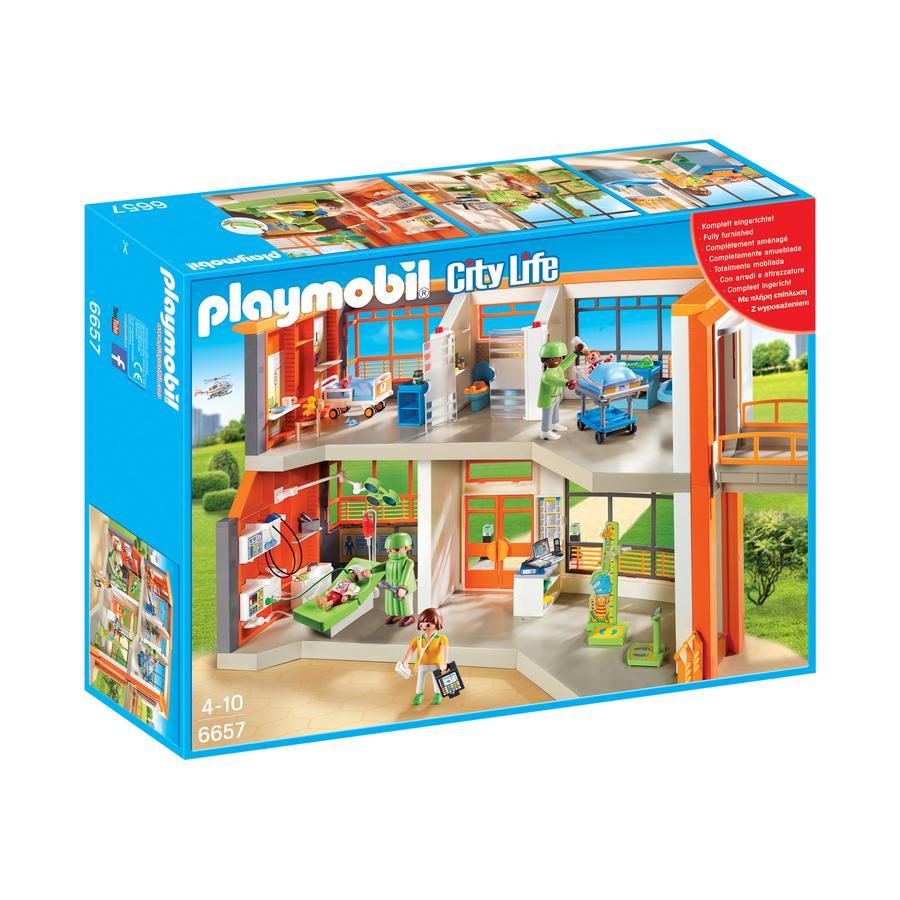 PLAYMOBIL® City Life Szpital dziecięcy z wyposażeniem 6657