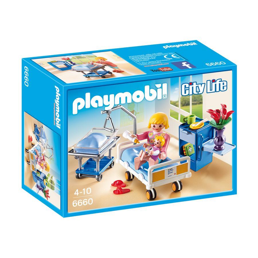 PLAYMOBIL® City Life Sala chorych - łóżko dla niemowlaków 6660