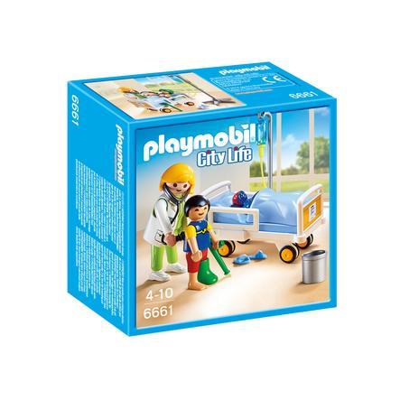 PLAYMOBIL® City Life Dětská lékařka s pacientem  6661