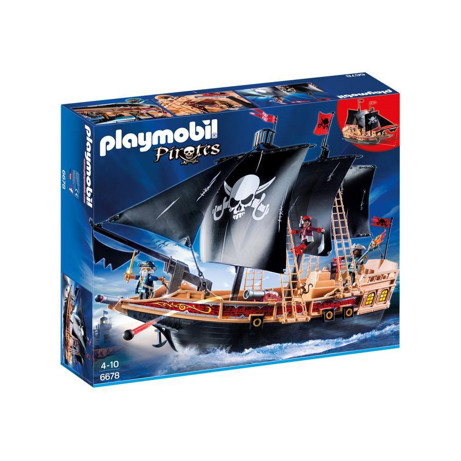 PLAYMOBIL® Pirates Pirátská bitevní loď 6678