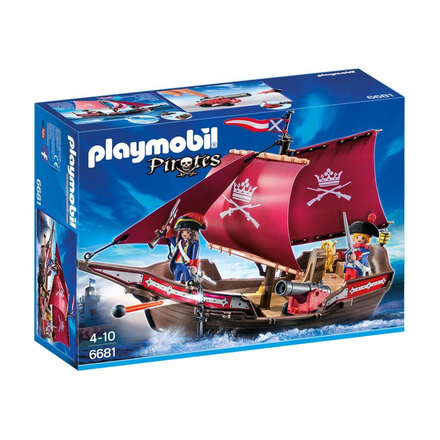 PLAYMOBIL® Pirates Żaglowiec wojskowy z armatą 6681