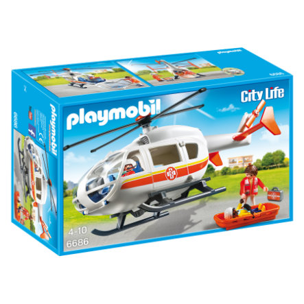 PLAYMOBIL® City Life Rettungshelikopter 6686
