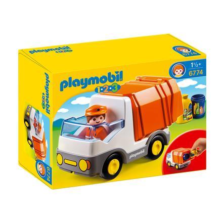 PLAYMOBIL® 1 2 3 camión de la basura 6774