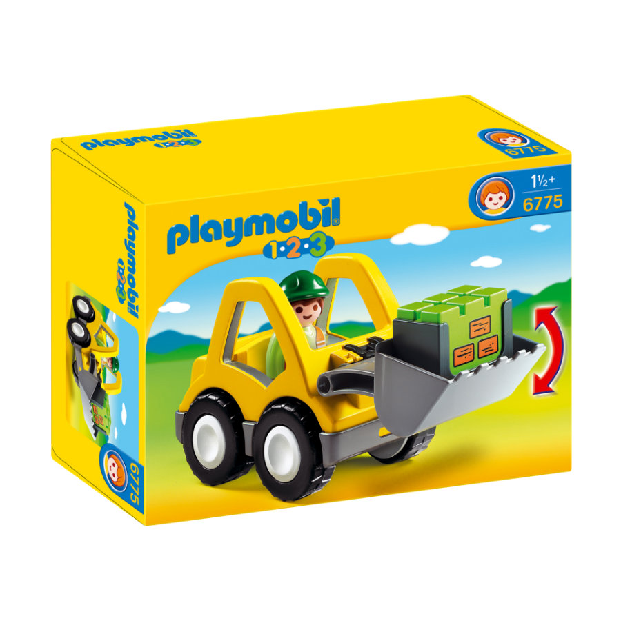 PLAYMOBIL 1 2 3 Pyöräkuormaaja 6775