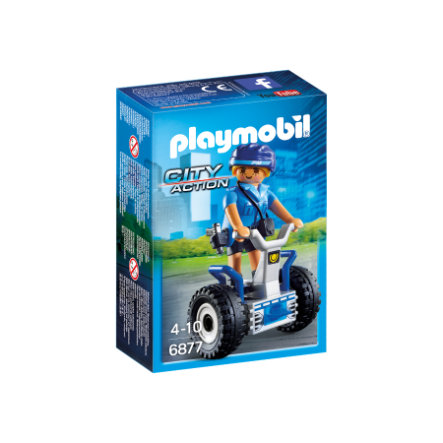 PLAYMOBIL® City Action Poliziotta con balance scooter 6877