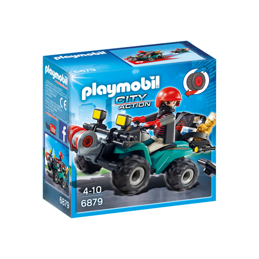 PLAYMOBIL® City Action Firehjulet crosser med skurk 6879
