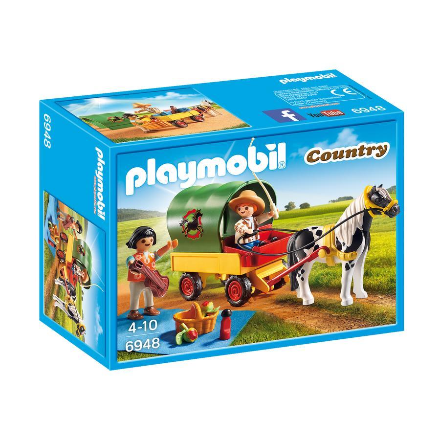 PLAYMOBIL® Country Enfants avec chariot et poney 6948