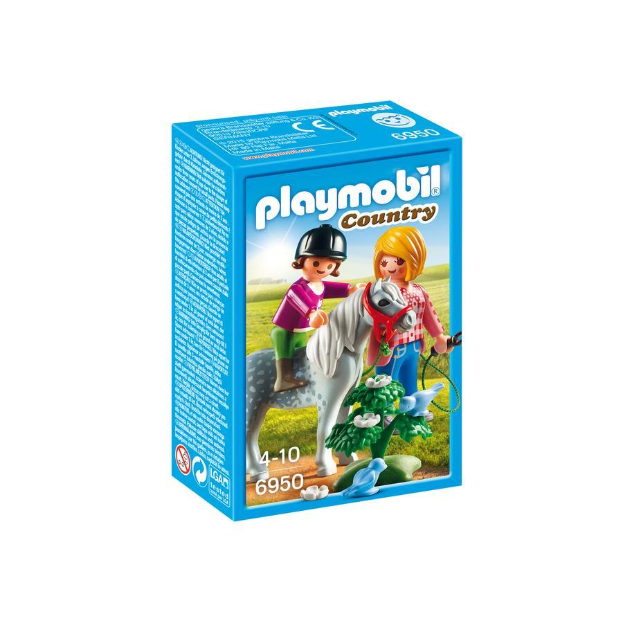 PLAYMOBIL® Country Cavalière avec soigneur et poney 6950