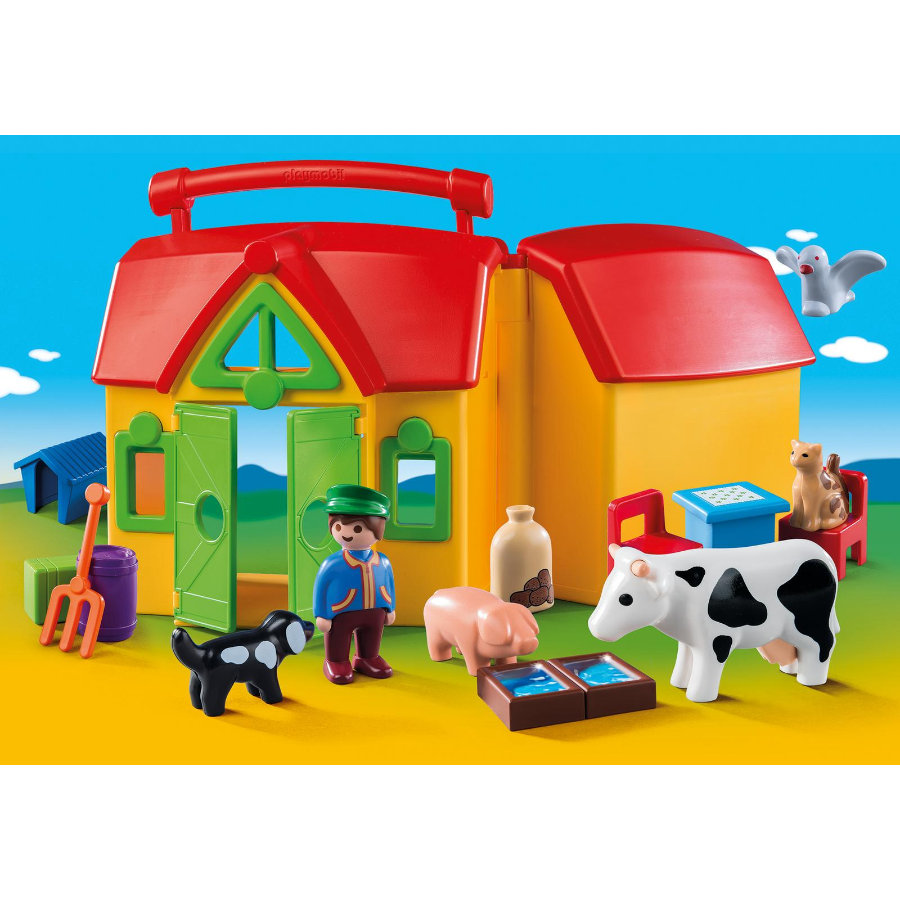 playmobil® 123 Ferme transportable avec animaux 6962