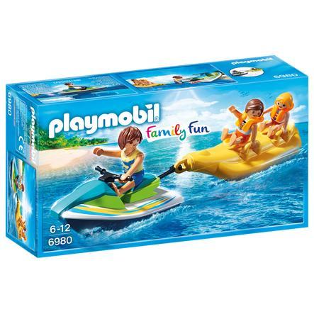 PLAYMOBIL® Family Fun Vodní skútr s banánovým člunem 6980