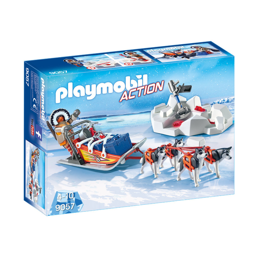Nouveautés Playmobil 9057 le traineau des explorateurs polaires Playmobil City Action