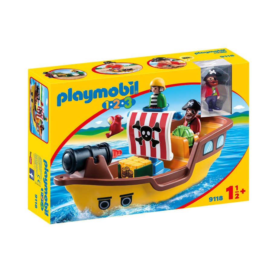 PLAYMOBIL® 1 2 3 Piratenschiff 9118