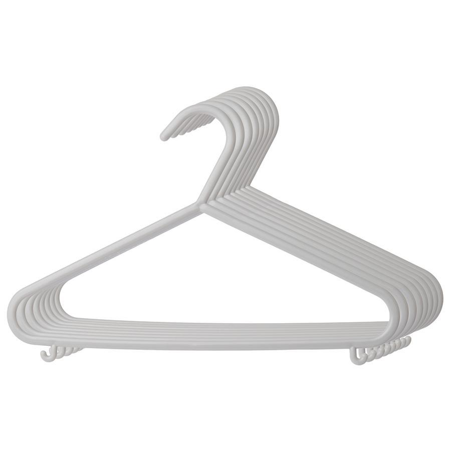 BIECO Tøjbøjler 8 pak grå