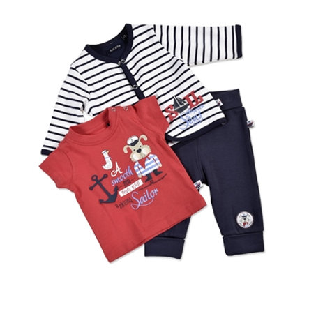 BLUE SEVEN Boys Set 3-tlg. marine gestreift