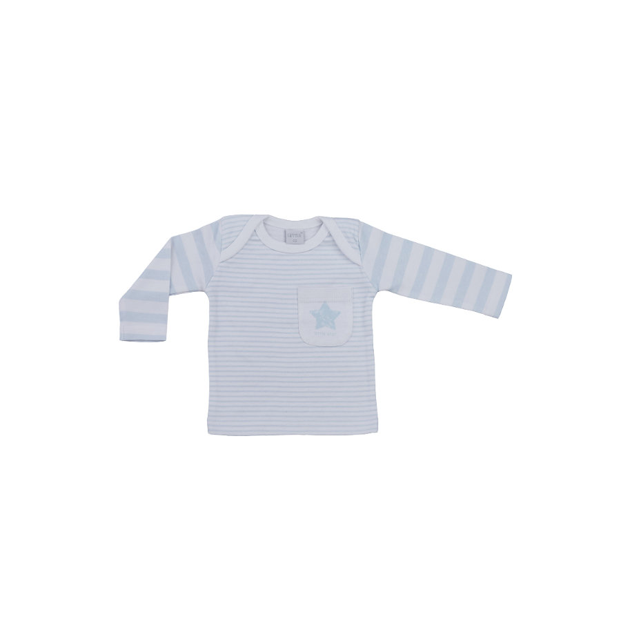 LITTLE Nature Langarmshirt blau Streifen