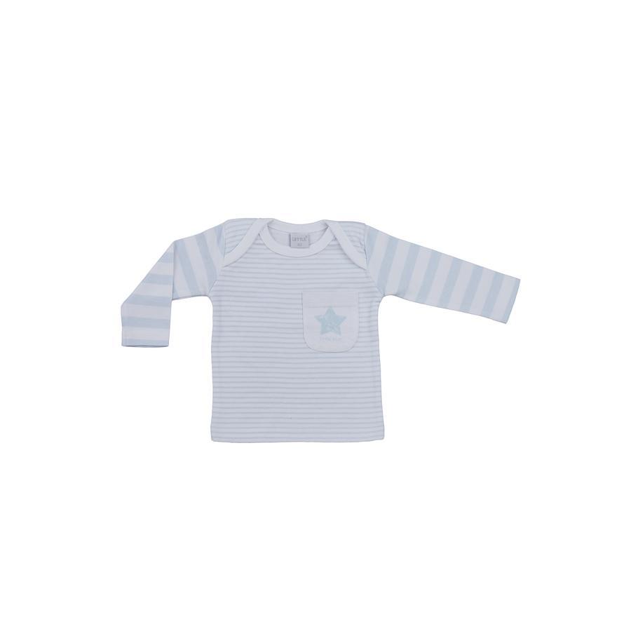 LITTLE Natuur shirt met lange mouwen blauwe strepen