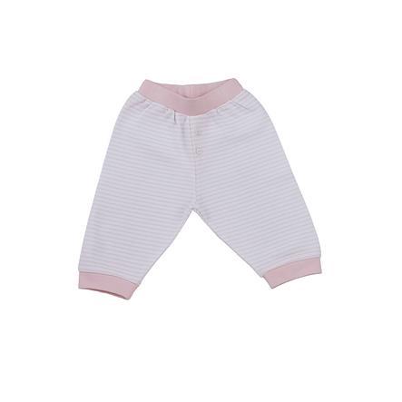 LITTLE Spodnie Nature Paski, różowy