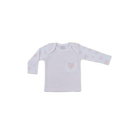 LITTLE Natuur shirt met lange mouwen roze strepen