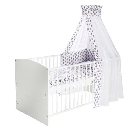Schardt Juego de cama de 4 piezas 100 x 135 cm Circle Star púrpura