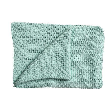 Schardt Baby Stickad filt, 75 x 100 cm mint
