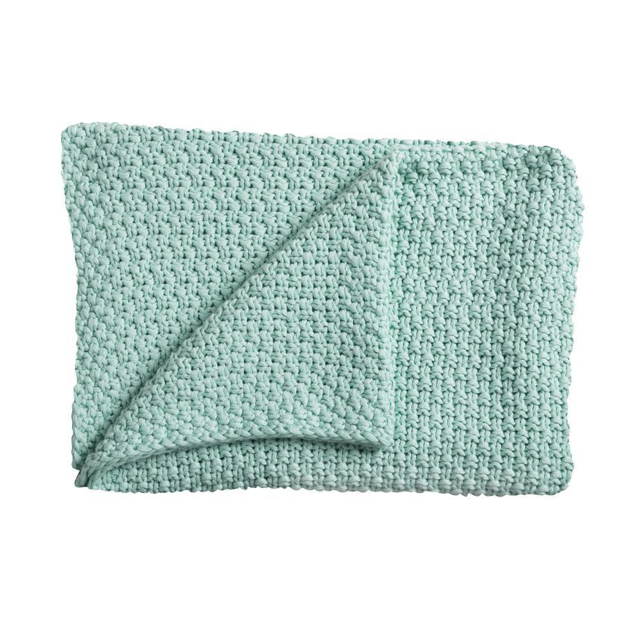 Schardt Couverture tricot bébé, 75 x 100 cm, menthe