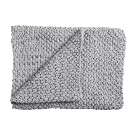 Schardt Manta de punto para bebé 75 x  100 cm gris claro
