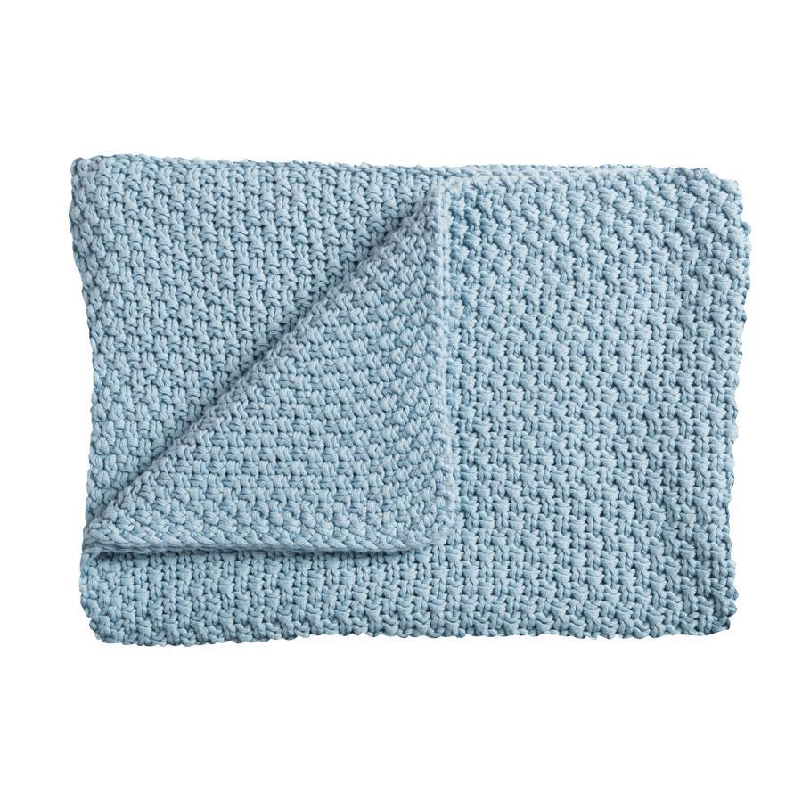 Schardt Baby-Strickdecke 75 x  100 cm hellblau