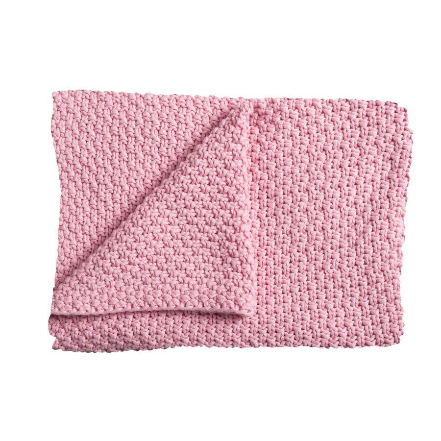 Schardt Couverture tricot bébé, 75 x 100 cm, rose