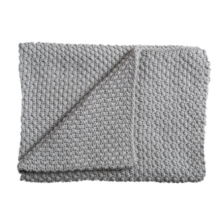 Schardt Pletená deka 75 x 100 cm světle šedá