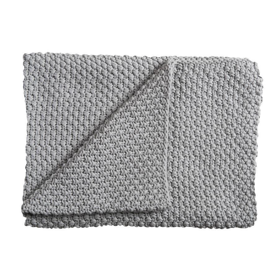 Schardt Couverture tricot bébé, 75 x 100 cm, gris clair