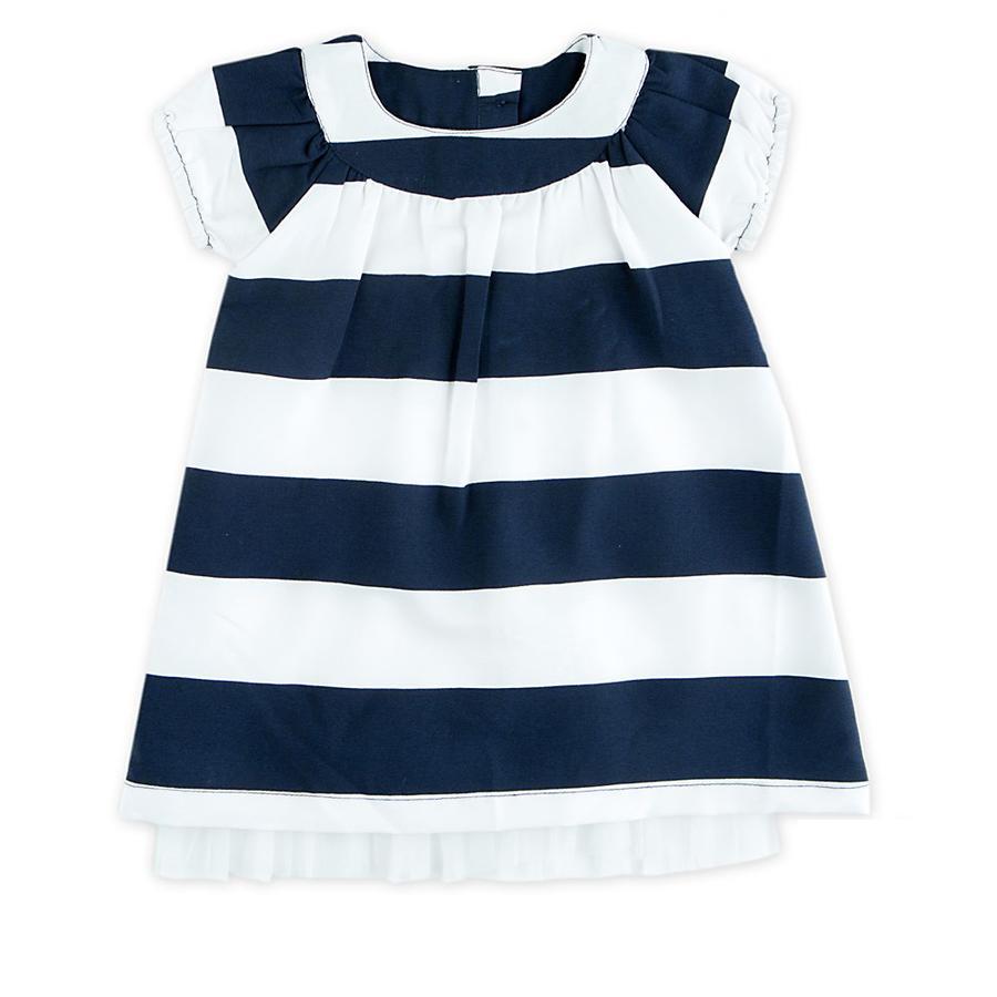 Feetje Girl s vestido rayas azul marino