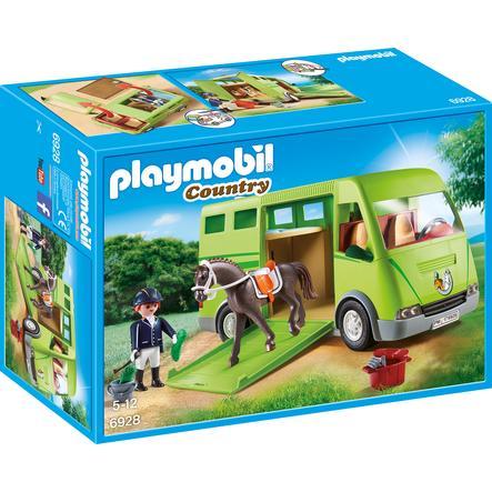 PLAYMOBIL® Country Cavalier avec van et cheval 6928