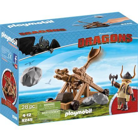 PLAYMOBIL® Dragons Gorbert med katapult 9245